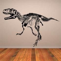 Dinosaur Stickers For Walls t rex skeleton dinosaurs wall art sticker wall decal transfers