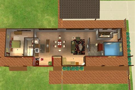 House Plat mod the sims plat house