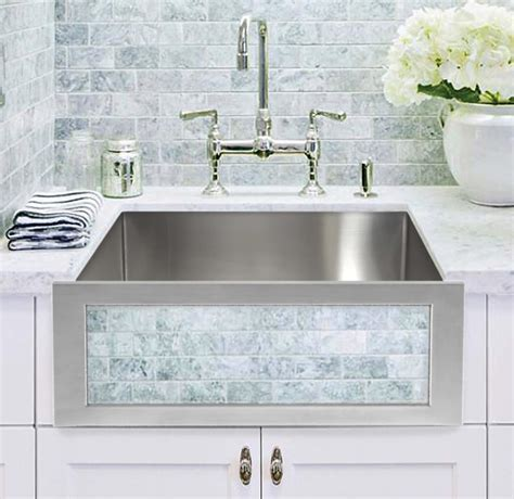 Decorative Kitchen Sinks Linkasink Smooth Stainless Steel Kitchen Farm Sink With Decorative Panels