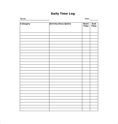 11 Time Log Templates Pdf Word Excel Free Premium Templates Time Log Template