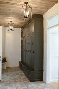 Laundry Room Lighting Fixtures Beautiful Storage Space For The Laundry Or Mud Room The Lighting Fixtures Compliment The Rustic
