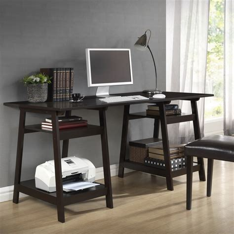 Large Modern Desk Mott Large Modern Desk With Sawhorse Legs By Wholesale Interiors In Desks And Hutches