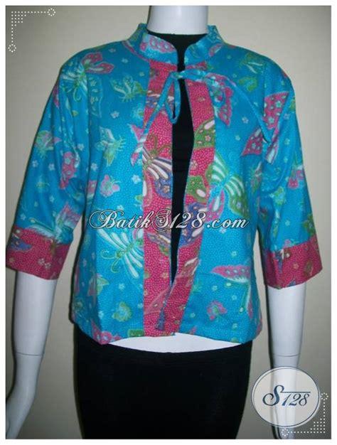 Bolero Kupu Kupu Bolero Batik Cardigan Batik Bolero Kalong bolero batik canti warna biru motif kupu blr019 toko batik 2018