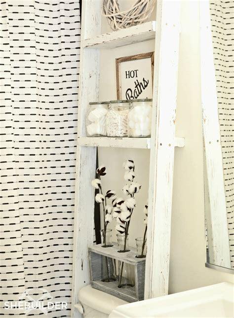 ana white  toilet storage ladder diy projects