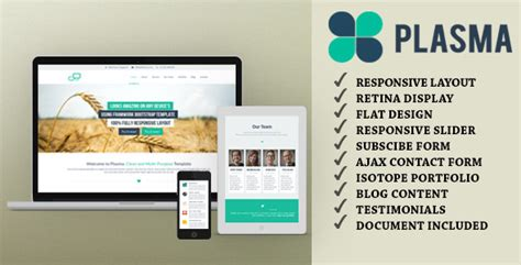 One Page Templates For Blogger | plasma one page multi purpose html template by jogjafile
