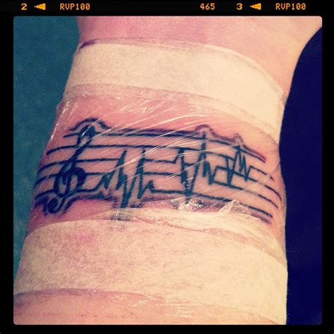 music sheet notes tattoo by maxrscape on deviantart