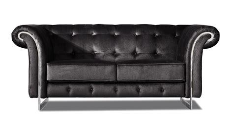 velvet tufted loveseat nayeli contemporary black velvet tufted sofa loveseat w