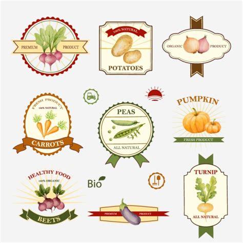 vegetable labels for garden creative vegetables labels vector graphics vector food