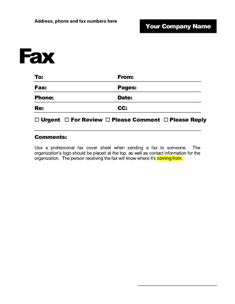 cover letter fax cover letter templates free blank fax