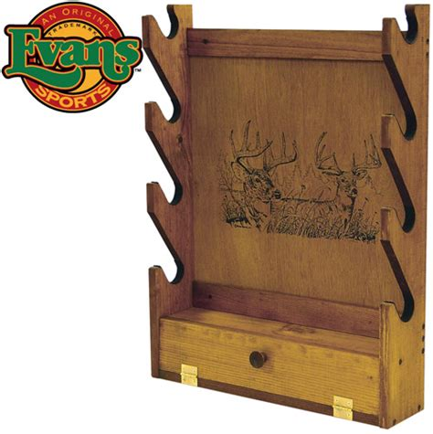 Wooden Gun Rack by Heartland America Wooden 4 Gun Rack With Storage Compartment