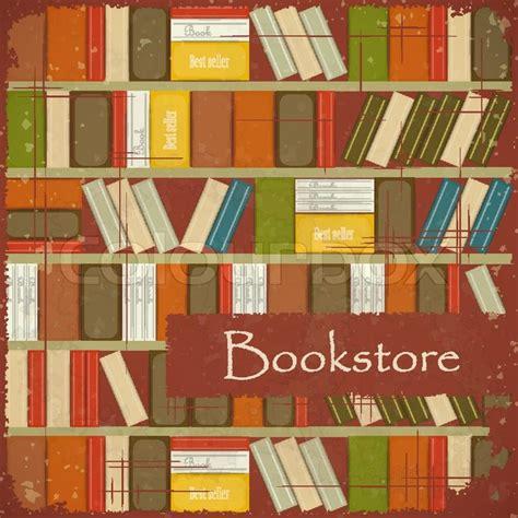 bookstore bookshelves vintage bookstore background bookcase vector background