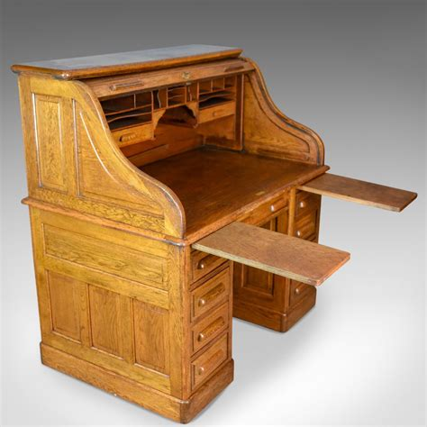 desk with roll out extension antique roll top desk english oak victorian lock