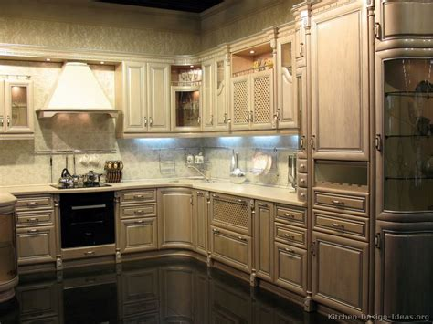 pictures of kitchens traditional whitewashed cabinets page 2
