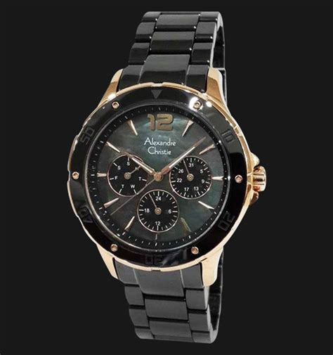 alexandre christie ac 2438 bfbrgba black stainless