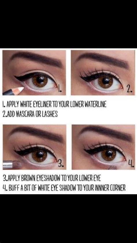 eyeliner tutorial to make eyes look bigger 29 cute hair and make up trusper
