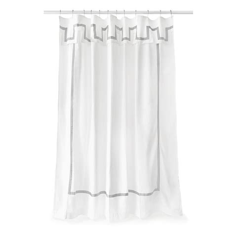 White And Gray Shower Curtain by Buy Jonathan Adler Santorini Shower Curtain Gray White