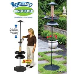 pole mounted bird feeder with anti squirrel baffle