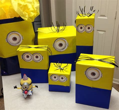 minion gift wrap minion wrapping for my minion loving hubby 99 cent rolls