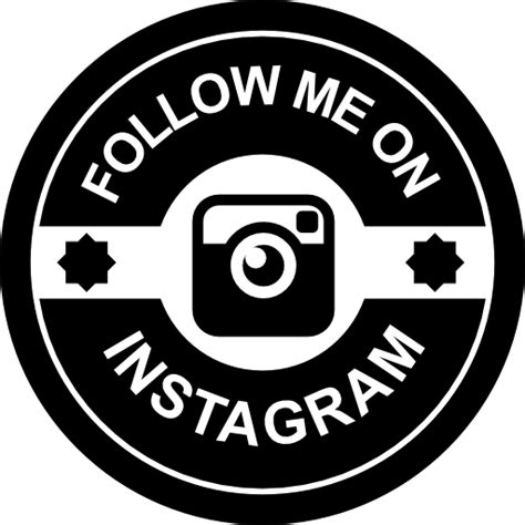 Follow Us On Instagram Template by Follow Me On Instagram Retro Badge Free Social Icons
