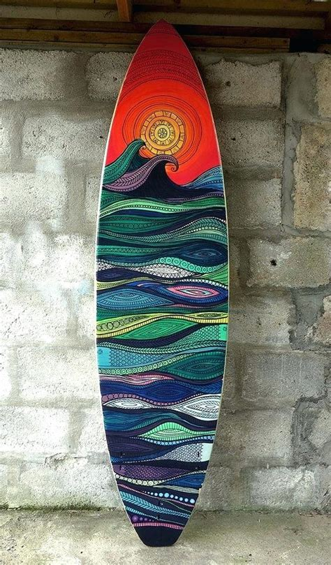 Painted Surfboard Wall