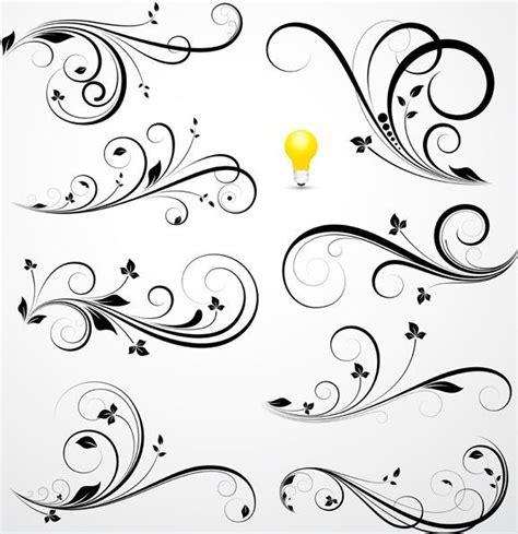 swirl pattern tattoo designs free flourish swirl floral corner patterns vector 04