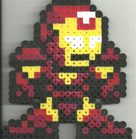 perler iron ironman hama by ravenfox beadsprites on deviantart