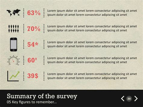 Infographic Survey Powerpoint Template By Kh2838 Graphicriver Survey Powerpoint Template Free