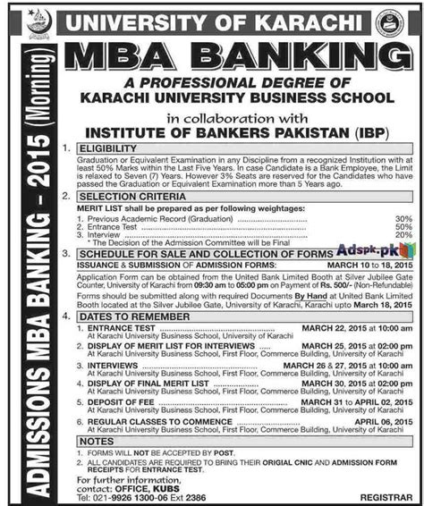 Of Mba Admissions by Admissions Open 2015 In Of Karachi Institute
