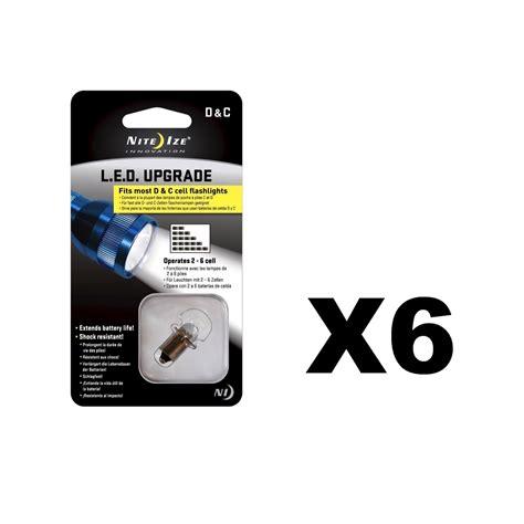 nite ize light battery nite ize led upgrade kit for c or d cell flashlights 55