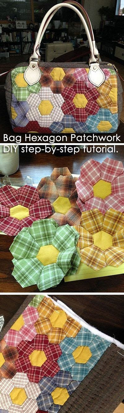Step By Step Patchwork Quilt - 25 best ideas about hexagon patchwork on