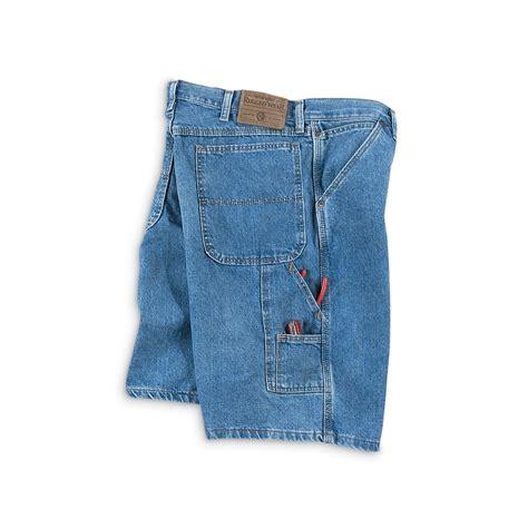 wrangler rugged wear cargo wrangler rugged wear 174 carpenter shorts denim 52996 shorts at sportsman s guide