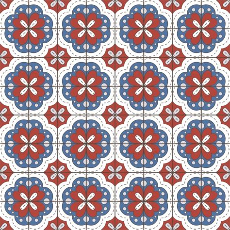 fliese mit muster tiles pattern design vector free