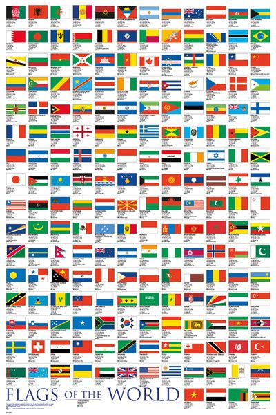 flags of the world poster flags of the world 2017 poster sold at abposters com