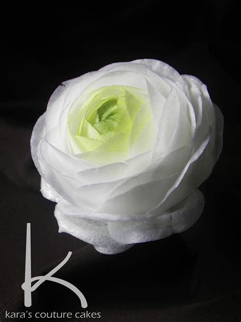 wafer paper fantasy flower tutorial wafer paper ranunculus tutorial