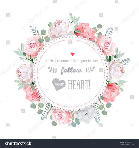 Wedding Card Floral Designs Vector by Delicate Wedding Floral Vector Design Frame Stock Vector