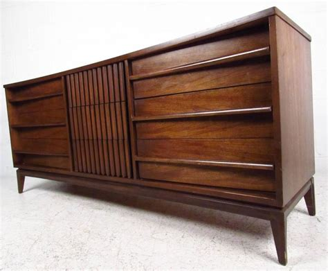 midcentury american made louvered front dresser for sale