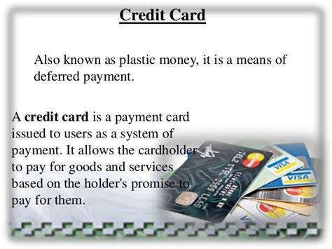 what is card credit cards ppt