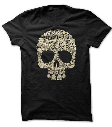 Skull The Shirt floral skull t shirt