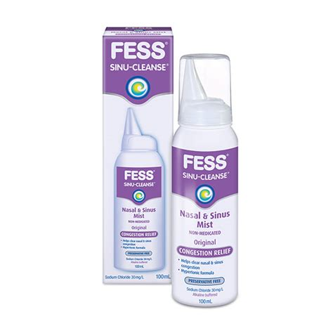 Detox Sinus Congestion by Fess 174 Sinu Cleanse Congestion Relief Hypertonic Mist Spray
