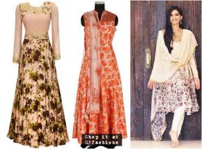 Garden Party Formal - fashion of floral print in indian ethnic wear