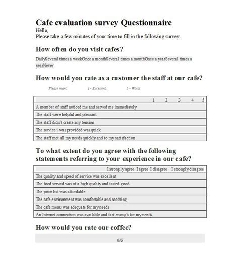 questionnaire survey template 30 questionnaire templates word template lab