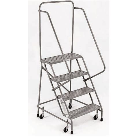 4 Step Safety Ladder With Handrails by Safety Step Ladder W Handrail 4 Step