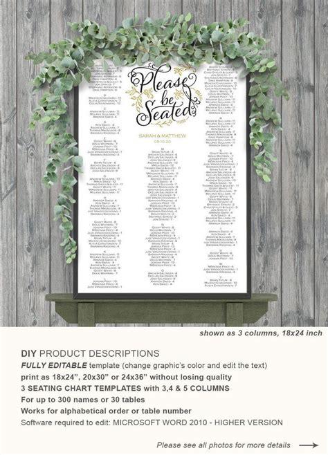black wedding seating chart editable and printable