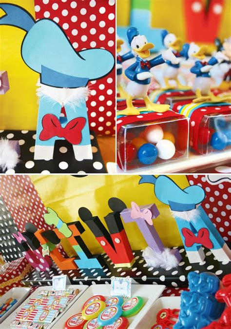 disney themed decorations disney carnival birthday with mickey friends
