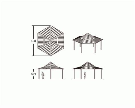 3 Sided Hip Roof Ironwood Six Sided Hip Roof Gazebo Modlar