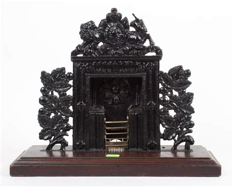 Cast Iron Fireplace Paint by Painted Cast Iron Miniature Fireplace
