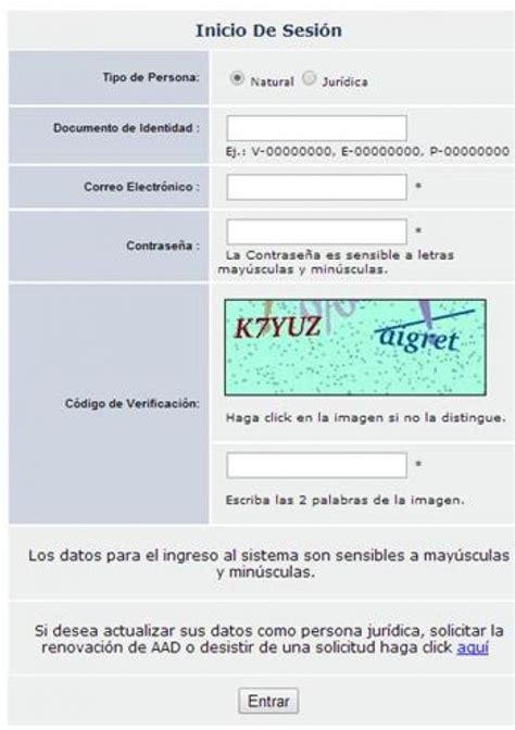 nueva planilla de consignacion de documentos de cencoex cencoex usuarios registrados opcion 2