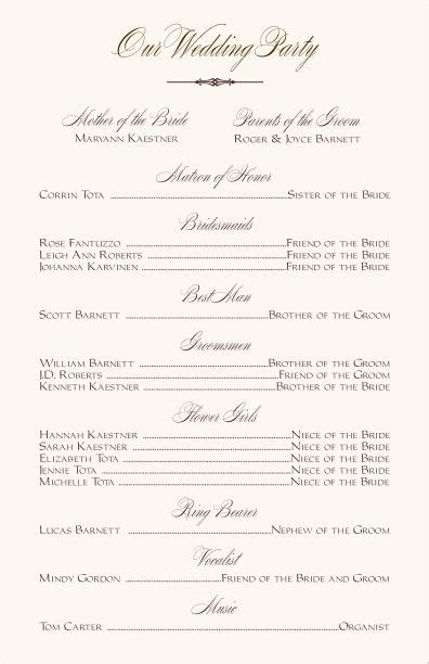 free printable wedding programs templates wedding