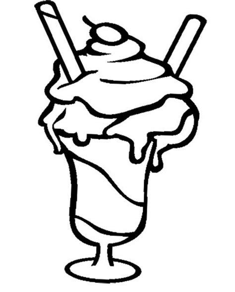 coloring page ice cream sundae ice cream sundae coloring page cookie pinterest