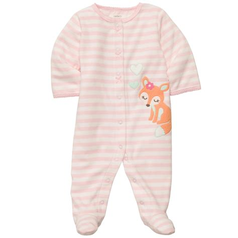 Baby One Sleepers by S Infant S Sleeper Pajamas Fox Pink Newborn